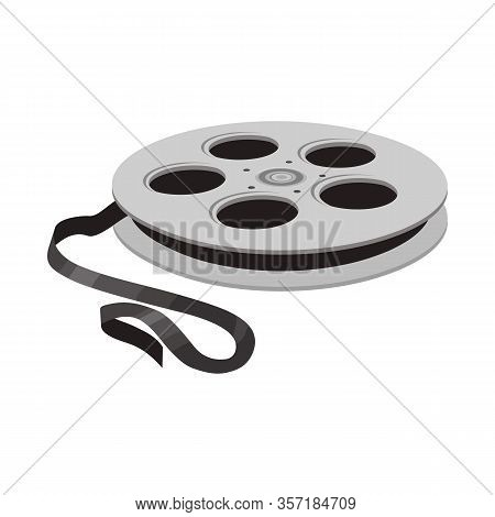 Vector Design Of Reel And Movie Symbol. Web Element Of Reel And Clapper Stock Symbol For Web.