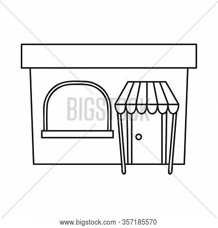 Isolated Object Of Bookstore And Modern Icon. Set Of Bookstore And Shop Vector Icon For Stock.