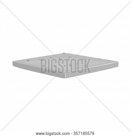 Isolated Object Of Bun And Bread Logo. Graphic Of Bun And Slice Stock Symbol For Web.