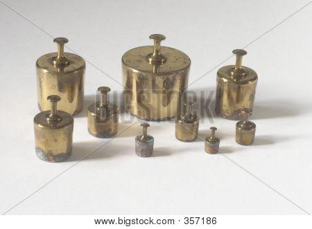 Old Brass Weights