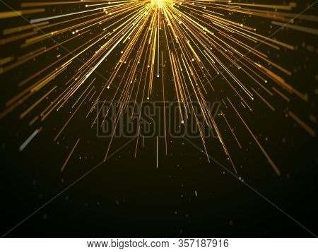 Gold Light Lines Awards Elegant Abstract Background.