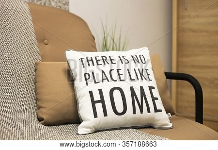 Cushions With A Text There Is No Place Like Home. Stay Home, Work From Home Coronavirus Prevention C