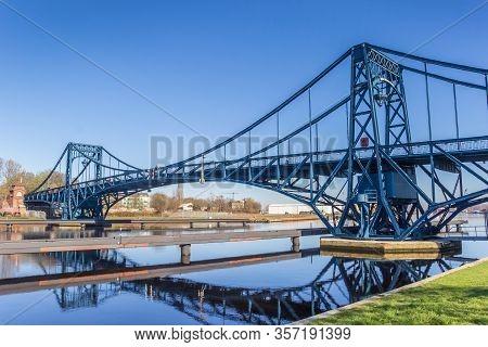 Kaiser Wilhelm Bridge Over The Ems-jade-kanal In Wilhelmshaven, Germany