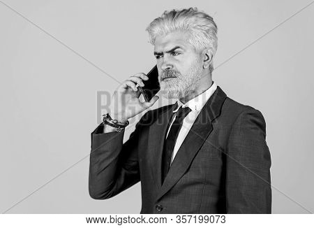 Business Communication. Call His Lawyer. Real Estate Agent. Serious Conversation. Application Online