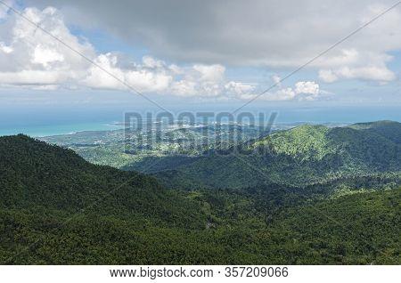 Luquillo Mountains Of El Yunque And Atlantic Coast In Puerto Rico
