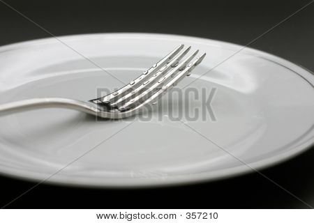 Fork With Water Drops