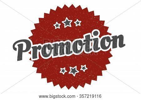 Promotion Sign. Promotion Round Vintage Retro Label. Promotion