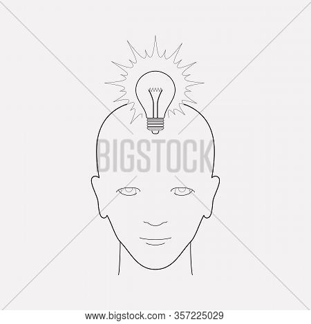 Genius Icon Line Element. Vector Illustration Of Genius Icon Line Isolated On Clean Background For Y