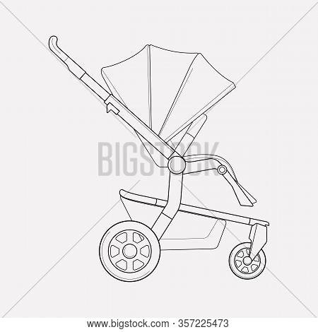 Stroller Icon Line Element. Vector Illustration Of Stroller Icon Line Isolated On Clean Background F