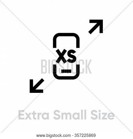 Tech Specs Extra Small Size Phone Icon. Editable Vector Stroke.