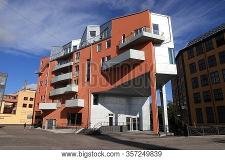 Norrkoping, Sweden - August 25, 2018: Modern Architecture In Norrkoping, Sweden. Norrkoping Is Swede