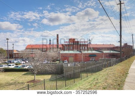 Augusta, Georgia/united States- January 7: A View Of Enterprise Mill In Augusta, Georgia. A Flour Mi