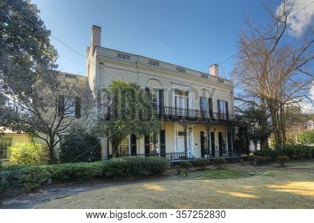 Augusta, Georgia/united States- January 7: The Old Government House In Augusta, Georgia. Built In 18