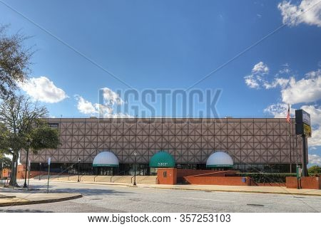 Augusta, Georgia/united States- January 7: The James Brown Arena In Augusta, Georgia. A Multi Purpos