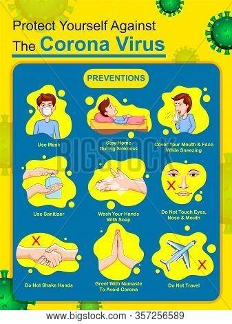 Illustration Of Medical Background Showing Prevention From Deadly Novel Coronavirus 19 Epidemic Outb