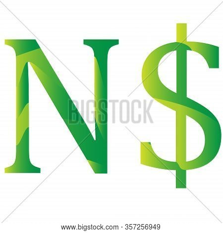 Namibian Dollar Currency Symbol Icon Of Namibia Vector Illustration On A White Background