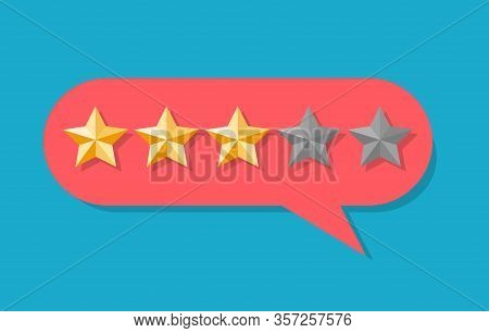 Client Five Star Experience Rated. Service Rating Stars In Ui Bubble, Bad Or Good Reviewers Rate Vec