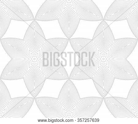 Abstract Seamless Pattern With Geometric Texture. Pattern Of Repeating Symmetrical Shapes.
