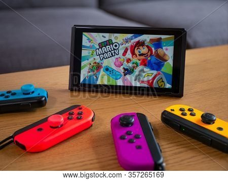 Uk, March 2020: Nintendo Switch Super Mario Party Family Multiplayer Game