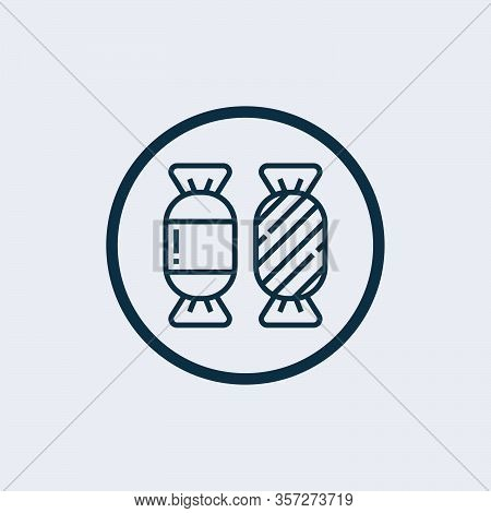 Candy Icon Isolated On White Background From Gastronomy Collection. Candy Icon Trendy And Modern Can