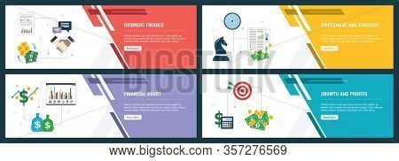 Business Finance, Investment And Strategy, Financial Chart, Growth And Profits. Internet Website Ban