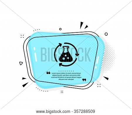 Chemistry Experiment Icon. Quote Speech Bubble. Laboratory Flask Sign. Analysis Symbol. Quotation Ma