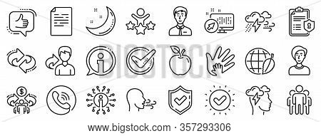Privacy Policy, Social Responsibility, Breath Icons. Check Mark, Sharing Economy And Mindfulness Str