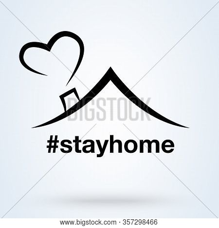 Stay Home, Stay Safe. Self-quarantine Vector Illustration.