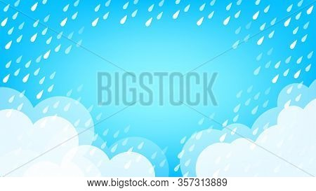 Banner Frame Rain Fall Background For Rainy Season Sale Off, Monsoon Banner Template Frame For Offer