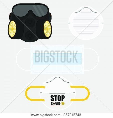 Illustration Vector Graphic Of Masker Set For Template Design