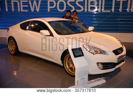 Pasay, Ph - Apr. 1: Hyundai Genesis Coupe At 8th Manila International Auto Show On April 1, 2012 In