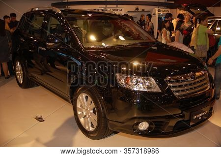 Pasay, Ph - Apr. 1: Subaru Tribeca At 8th Manila International Auto Show On April 1, 2012 In World T