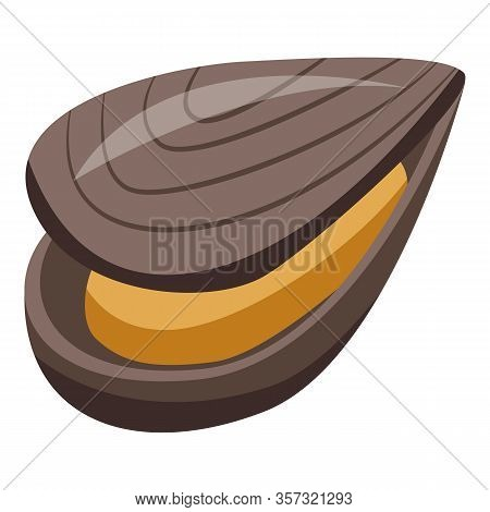 Mollusk Mussels Icon. Isometric Of Mollusk Mussels Vector Icon For Web Design Isolated On White Back