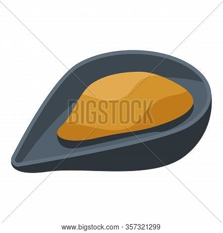 Open Mussel Icon. Isometric Of Open Mussel Vector Icon For Web Design Isolated On White Background