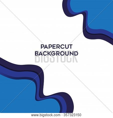 Abstract Blue Papercut Background Gradations, Modern Texture Background, Color Gradations Elegant Ba