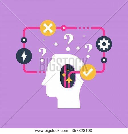Decision Making And Behavior, Mental Trap, False Logic Circle, Logical Solution, Critical Thinking,