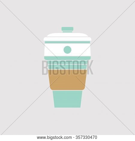 Vector Folding Coffee Cup Silicone Collapsible Cup