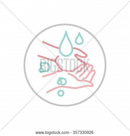 Hand Wash Hygiene Icon. Respiratory Hygiene Sign. Anti-bacterial Hands Washing Pictogram. Medical Ca