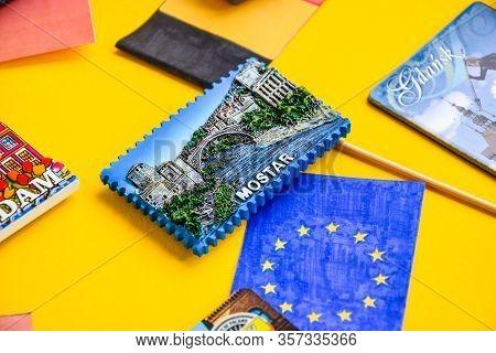 Magnet From Mostar, Bosnia And Herzegovina, Bih, Travel Concept, Planning Vacation, Travel Destinati