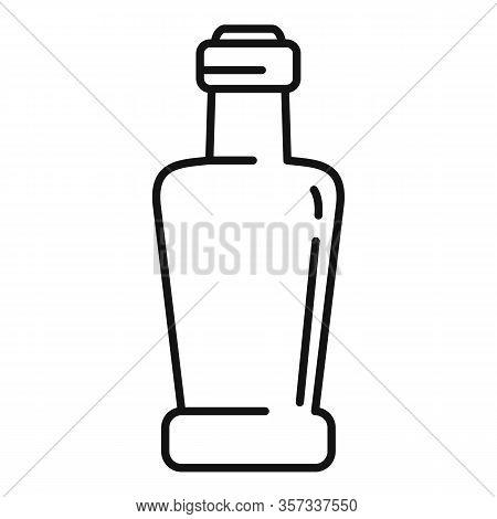Vinegar Bottle Icon. Outline Vinegar Bottle Vector Icon For Web Design Isolated On White Background