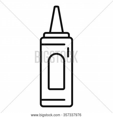Tasty Ketchup Bottle Icon. Outline Tasty Ketchup Bottle Vector Icon For Web Design Isolated On White