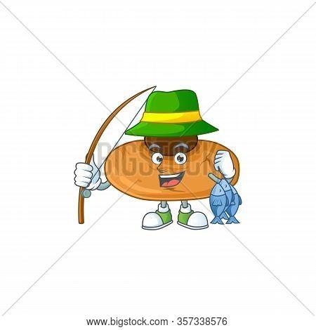 Cartoon Character Of Funny Fishing Kiss Cookies