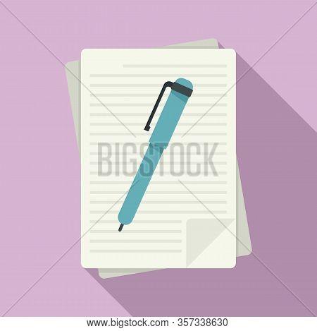 Grammar Edit Icon. Flat Illustration Of Grammar Edit Vector Icon For Web Design