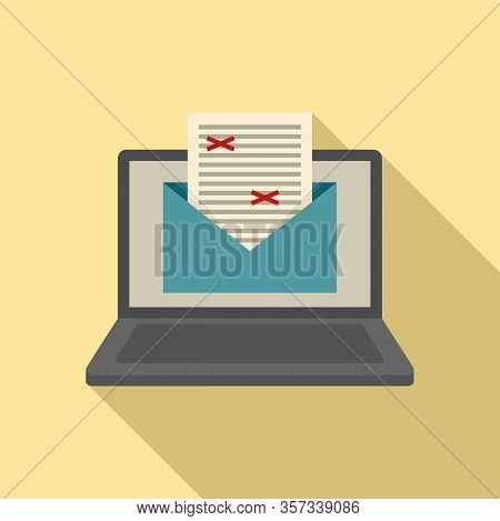 Mail Editor Icon. Flat Illustration Of Mail Editor Vector Icon For Web Design