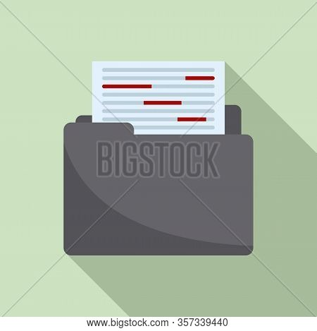 Summary Editor Icon. Flat Illustration Of Summary Editor Vector Icon For Web Design