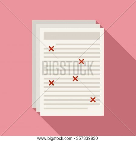 Business Editor Icon. Flat Illustration Of Business Editor Vector Icon For Web Design