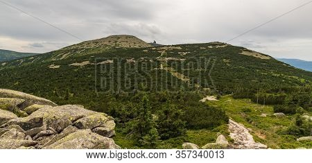 View To Velky Sisak, Vysoke Kolo And Vysoka Plan Hills From Muzske Kameny In Krkonose Mountains On C