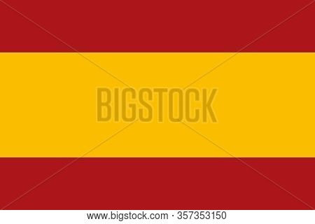 Spain Flag. Official National Flag Of A Sovereign State, Constitutional Monarchy Of Spain. Texture M