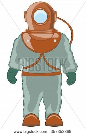 Vector Illustration Driver In Heavy Special Suit
