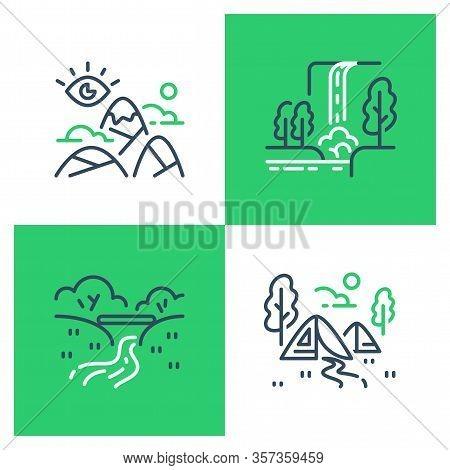 Outdoor Landmarks, Nature Sites, Recreational Park, Summer Trail Walking, Hiking Or Trekking, Ecolog